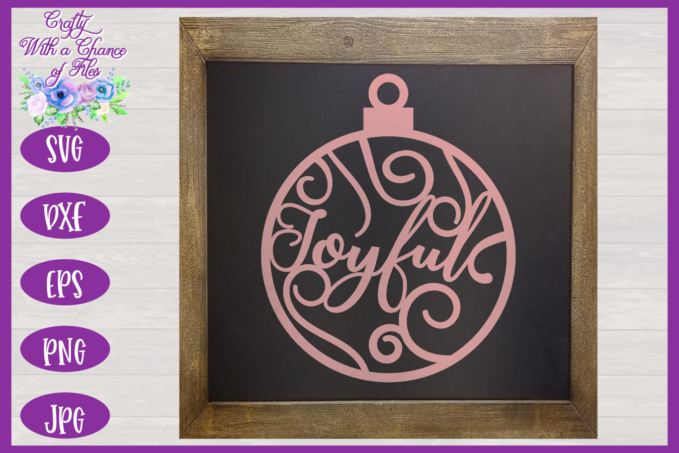 Christmas Word Ornaments SVG | Laser Cut Baubles SVG example image 10