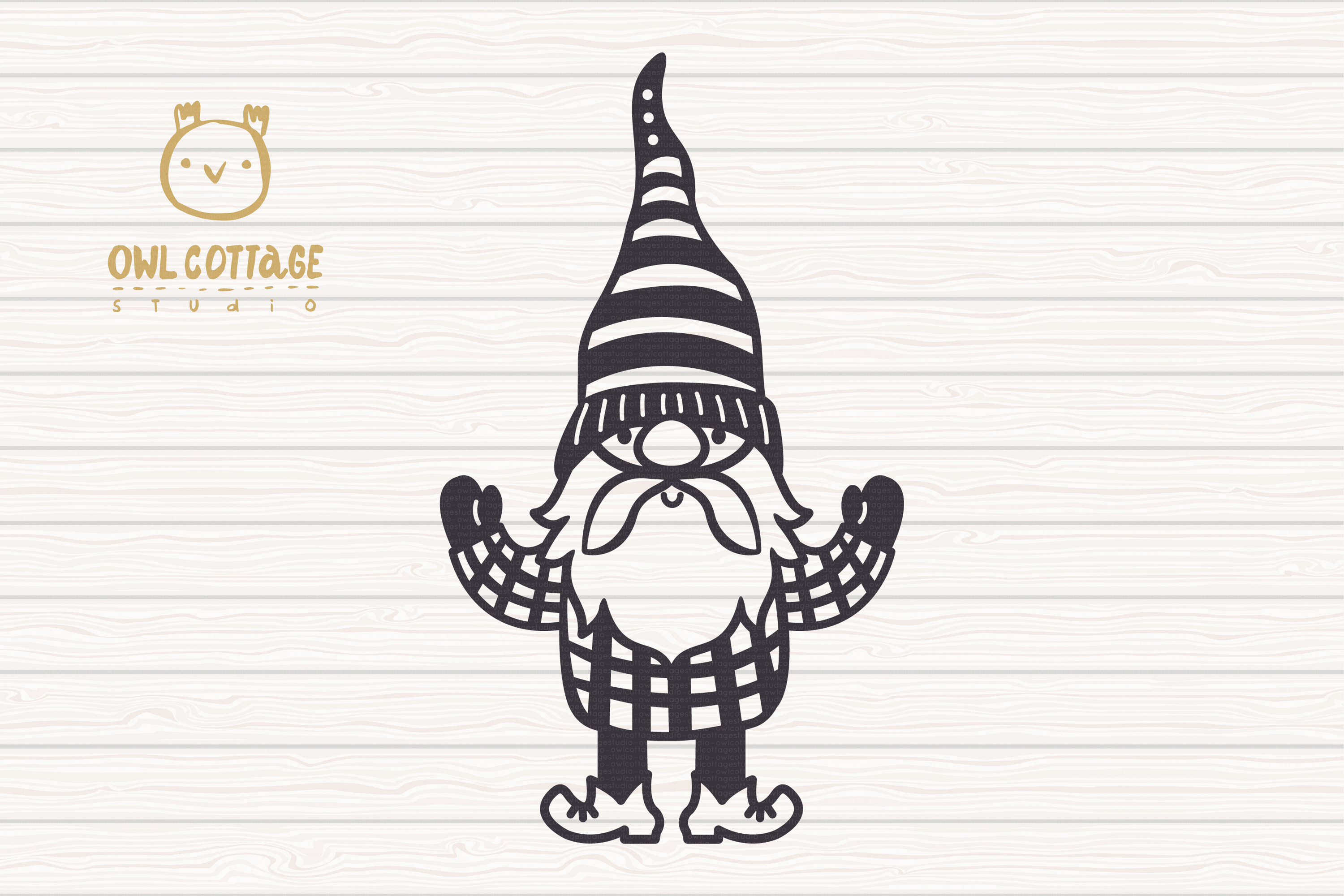 Scandinavian Gnomes SVG, Gnome Clipart, Tomte example image 3