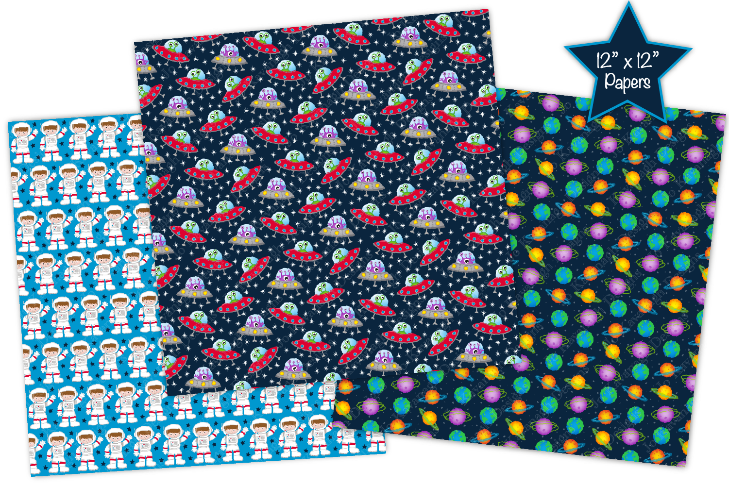 Space Digital Papers, Space Patterns, Astronauts, Planets example image 4