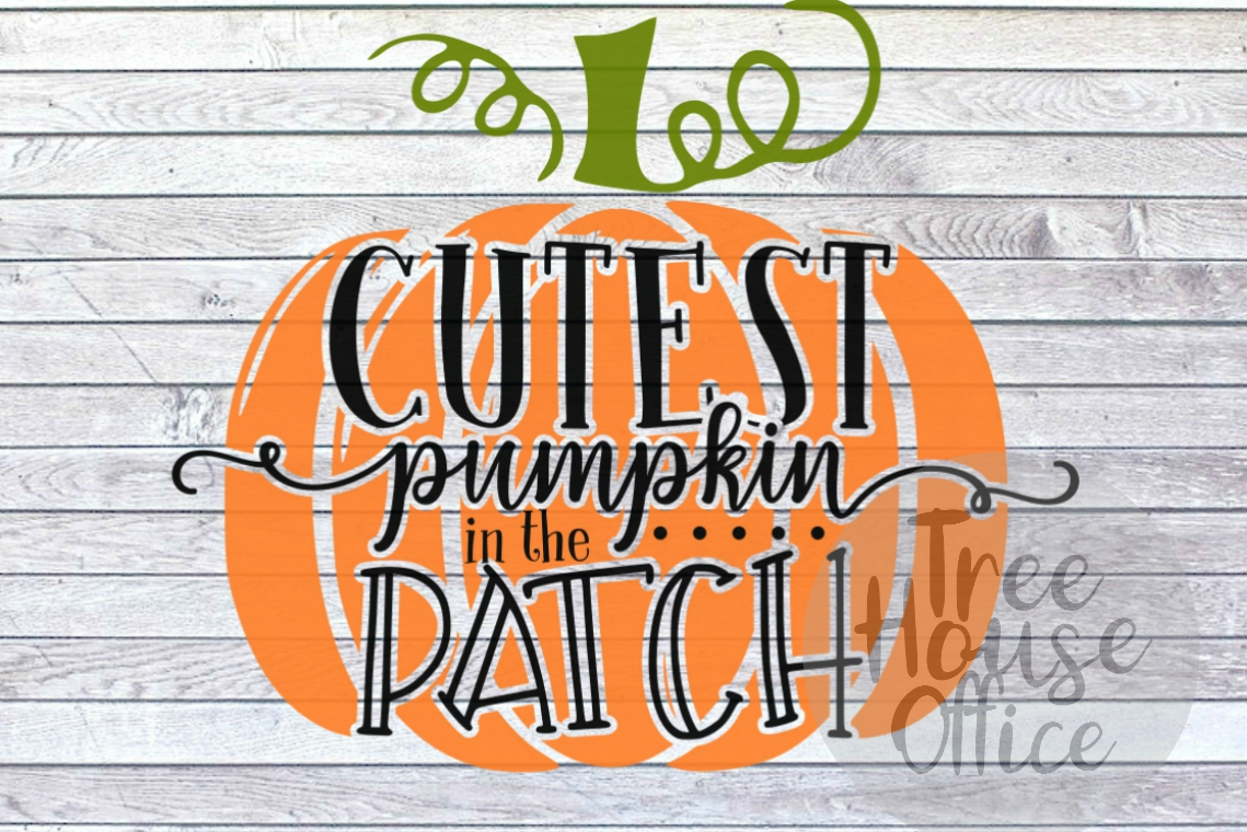 Cutest Pumpkin in the Patch Fall Autumn Baby SVG PNG JPEG example image 2