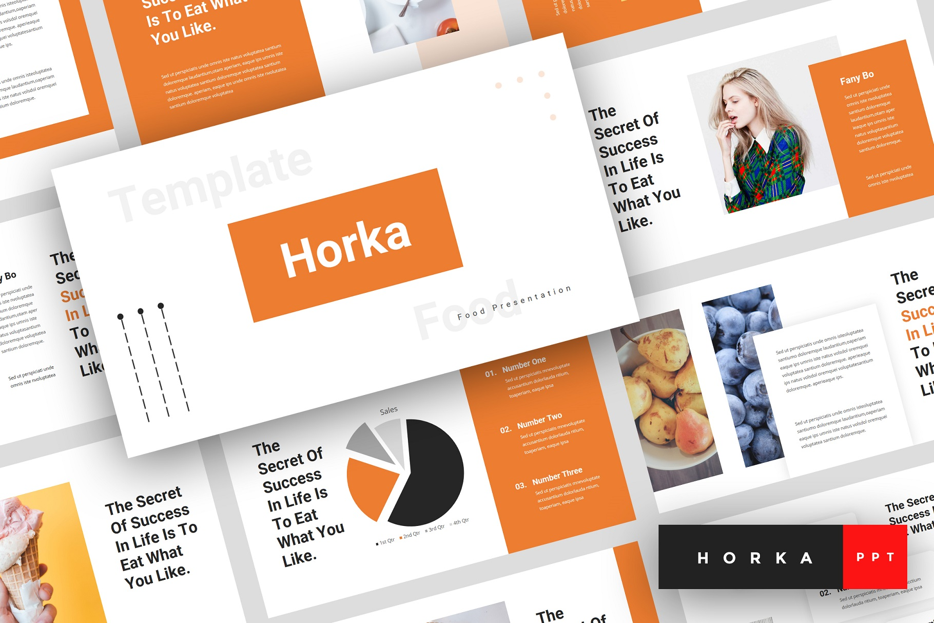 Horka - Food PowerPoint Template example image 1