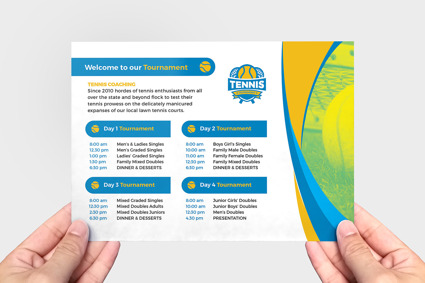Tennis Event Flyer Template example image 3