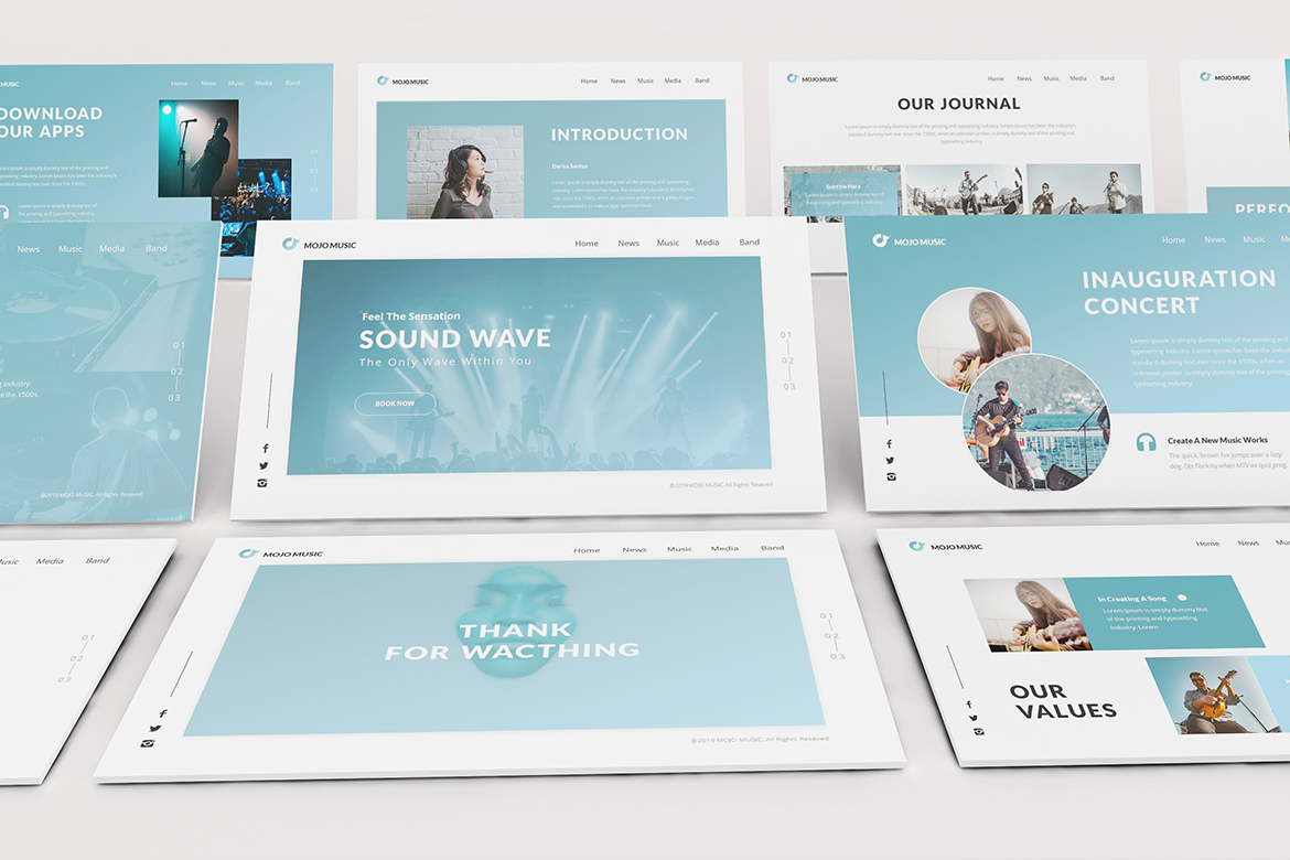 Music Powerpoint Template example image 9