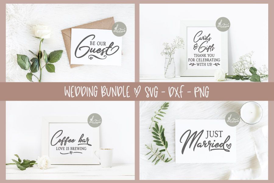Huge Wedding Sign SVG Bundle - 25 Designs - SVG, DXF & PNG example image 7