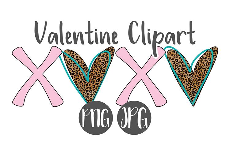 Hand Drawn XOXO Valentine Clipart example image 1