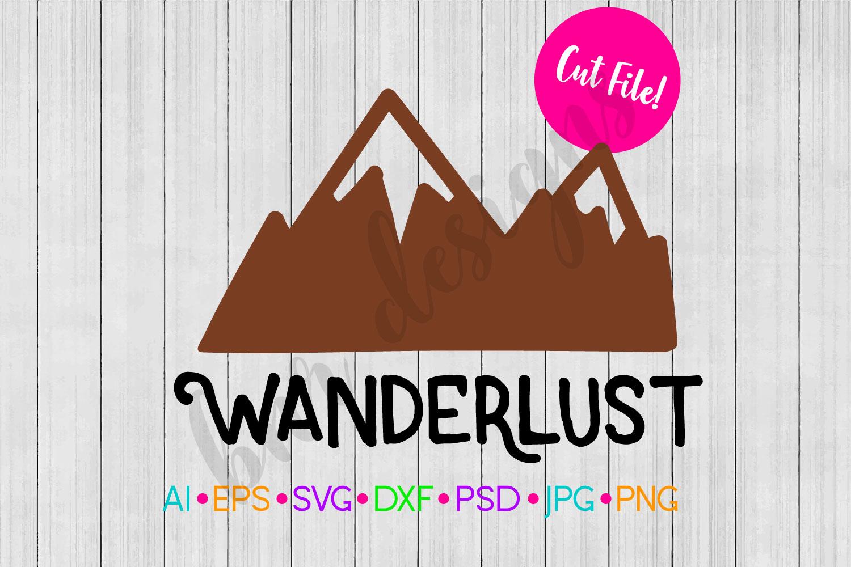Wanderlust SVG, Travel SVG, Adventure SVG, SVG File example image 1