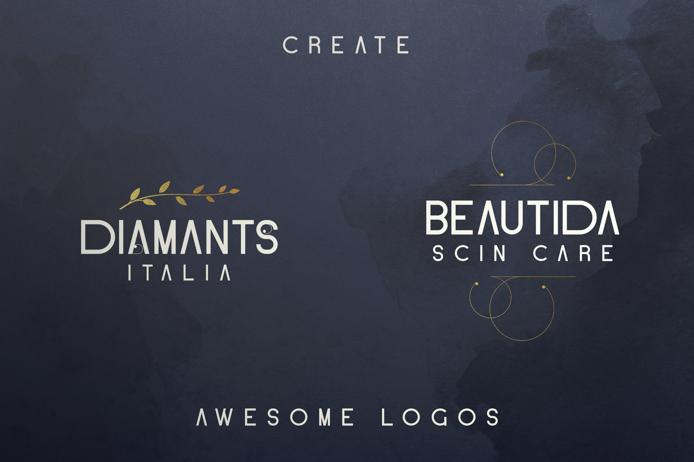 Blue Gold sans serif font Extras example image 7