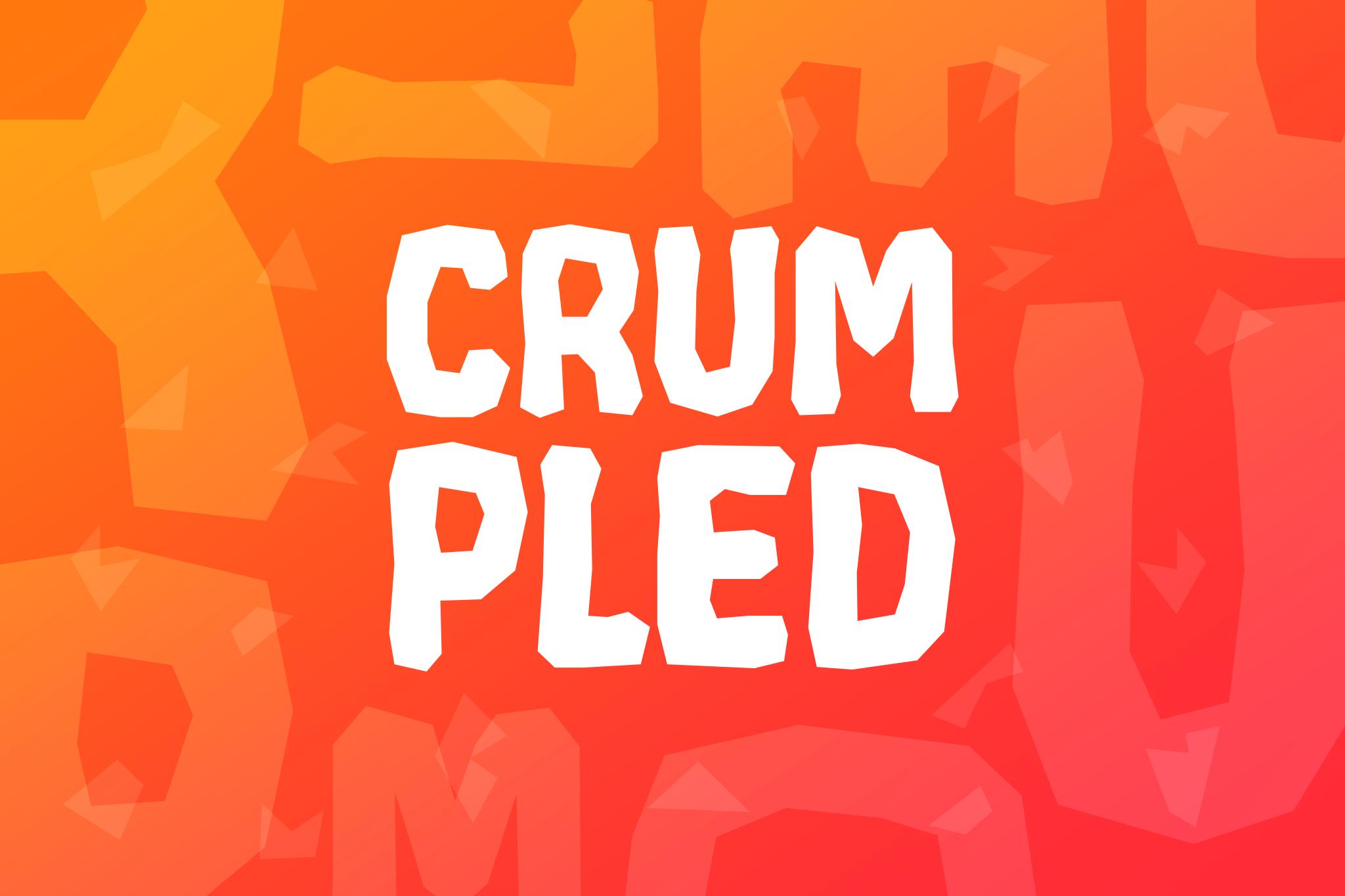 Crumpled example image 1