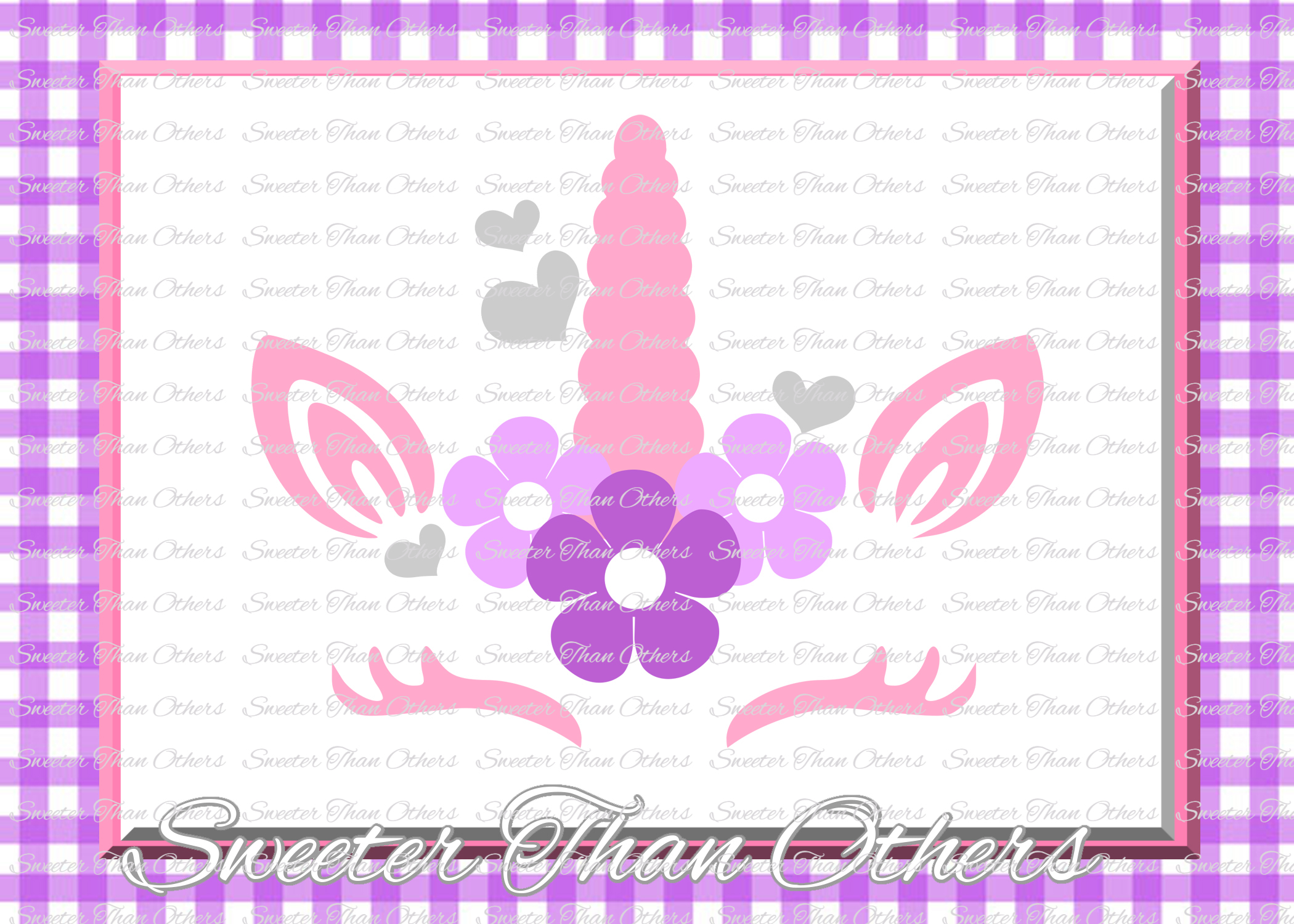 Love Unicorn SVG, Valentines Day Unicorn svg example image 1
