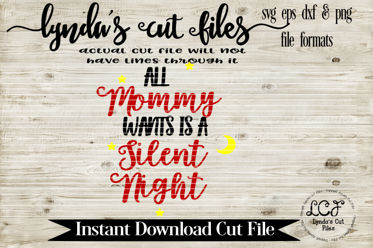 All Mommy wants is a Silent Night//Christmas//Wine Glass/SVG example image 1