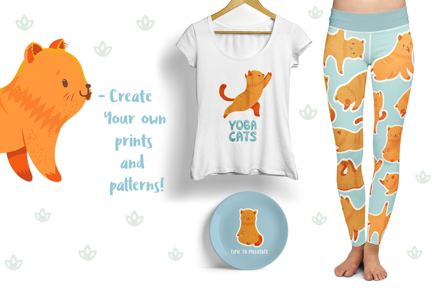 Yoga Cats Clipart Collection example image 6