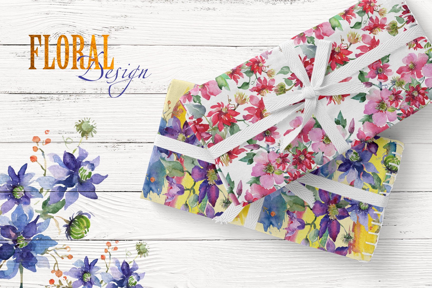 Bright Bouquets Watercolor png example image 5