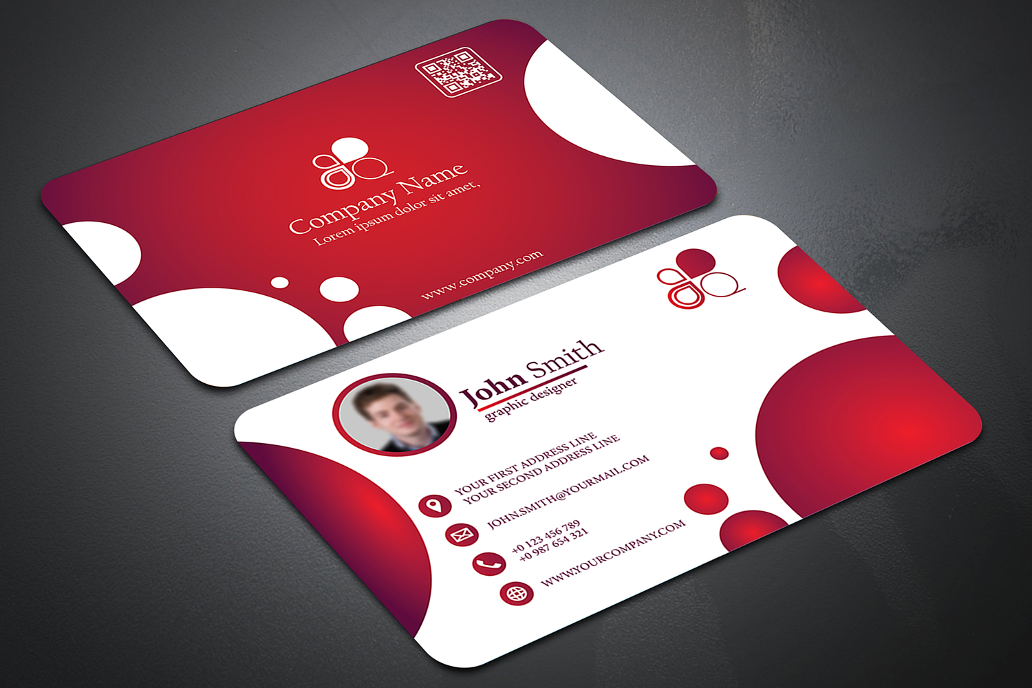 Business Card with Circle touch Visiting Card example image 4