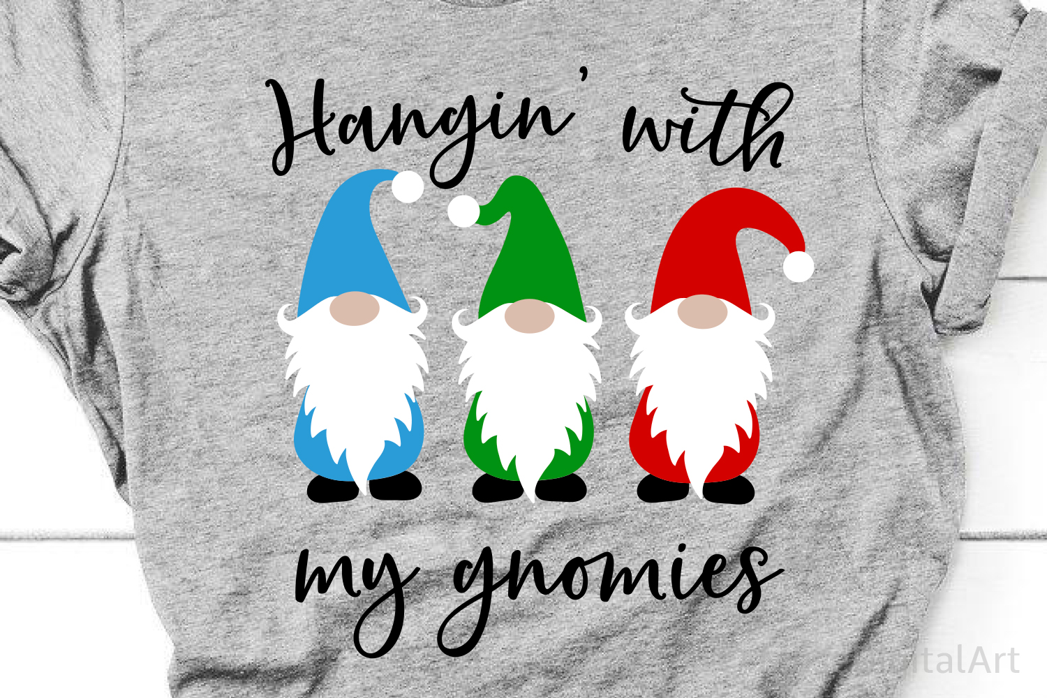 Hangin with My Gnomies Svg, Christmas Svg Cute Kids Svg File example image 1
