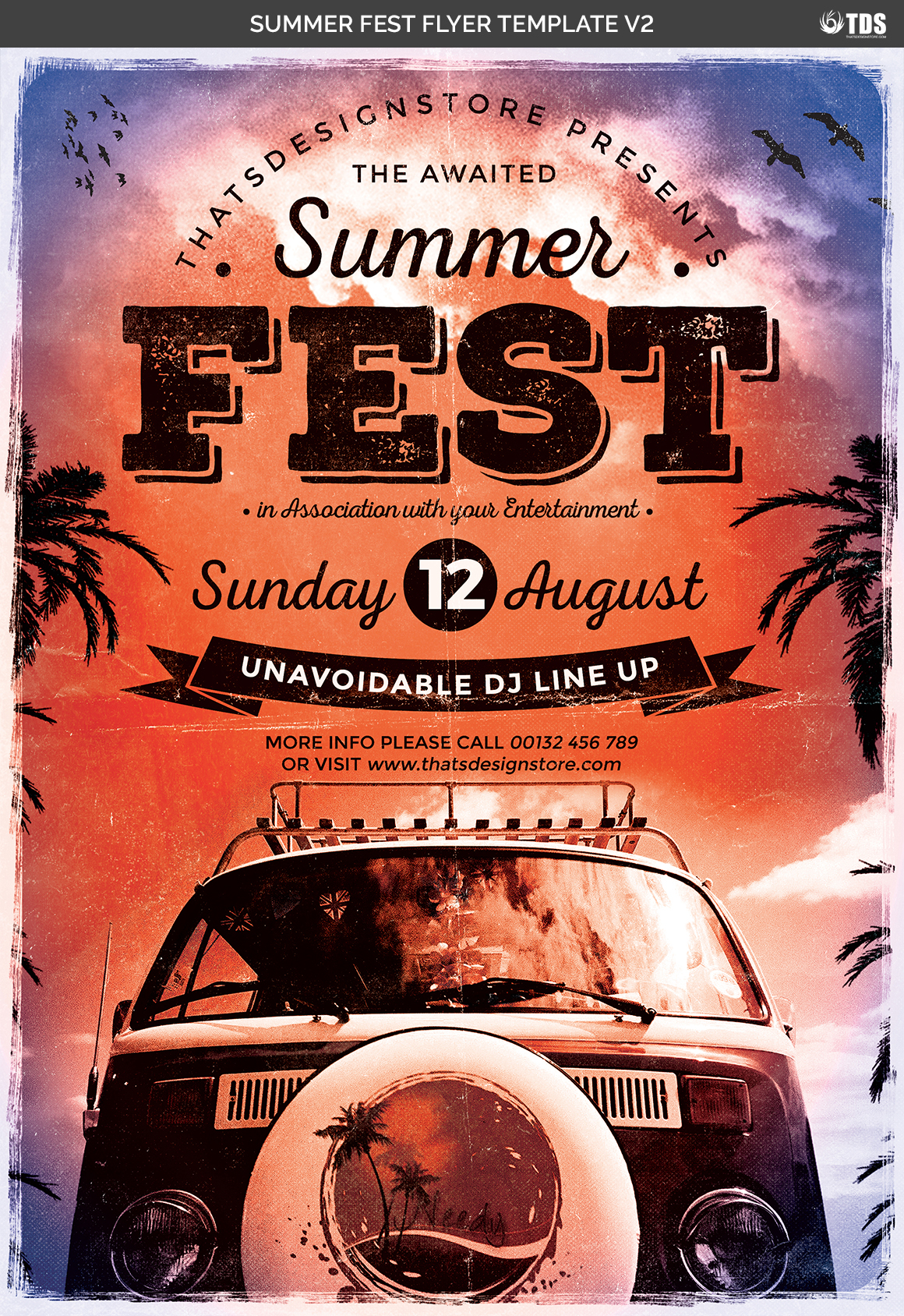 Summer Fest Flyer Template V2 example image 4