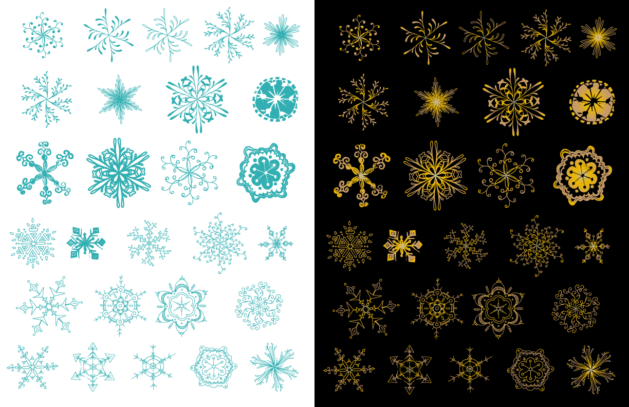 Snowflake Vector Pack example image 3