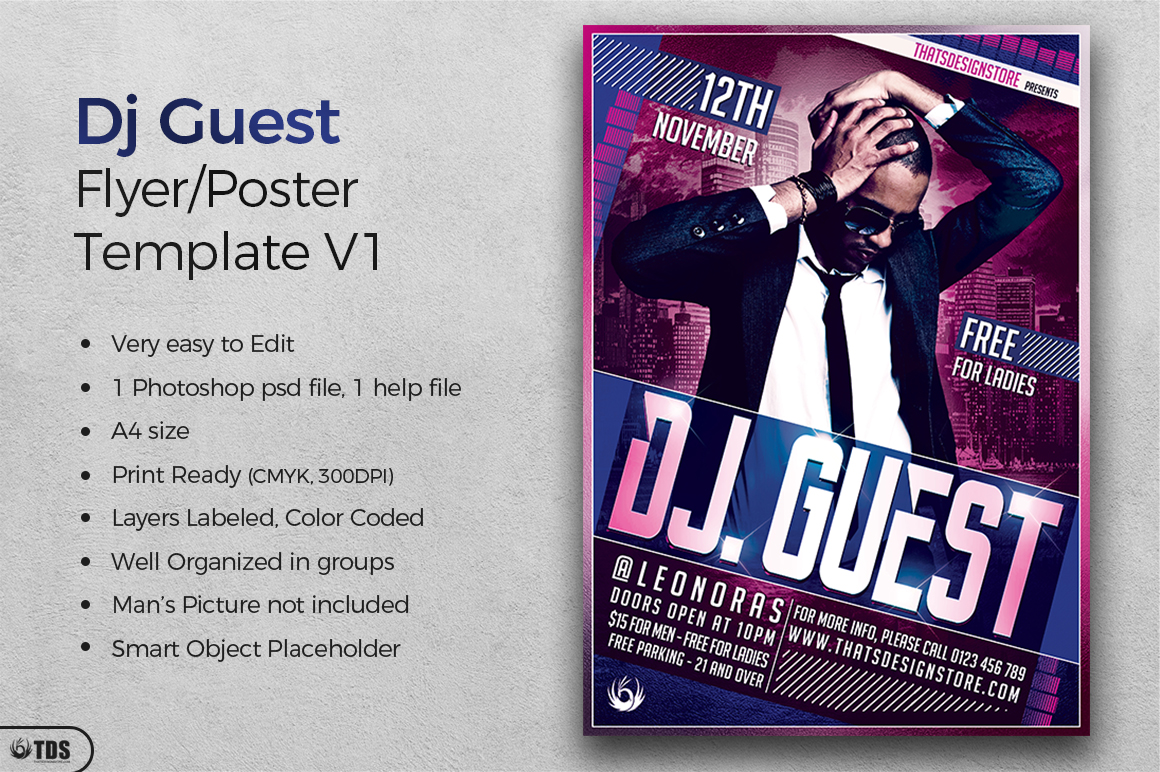 DJ Guest Flyer Template V1 example image 2