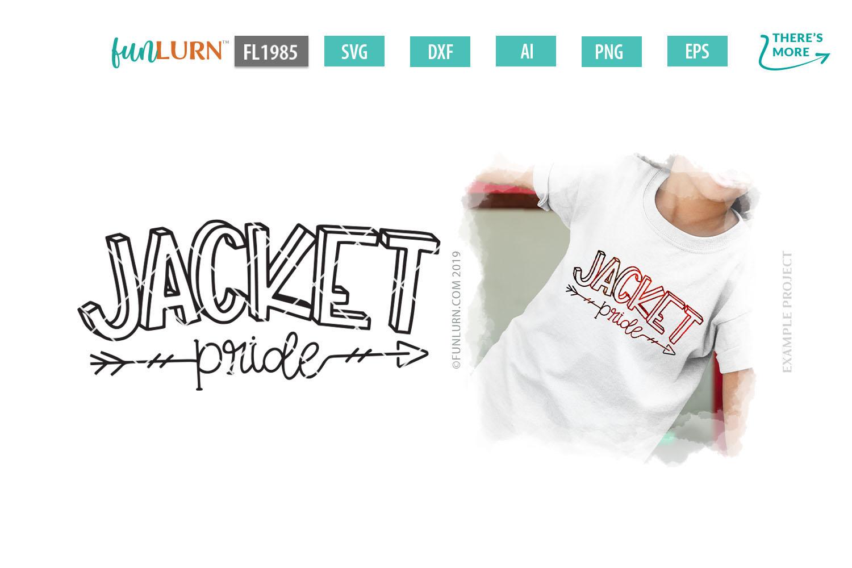 Jacket Pride Team SVG Cut File example image 1