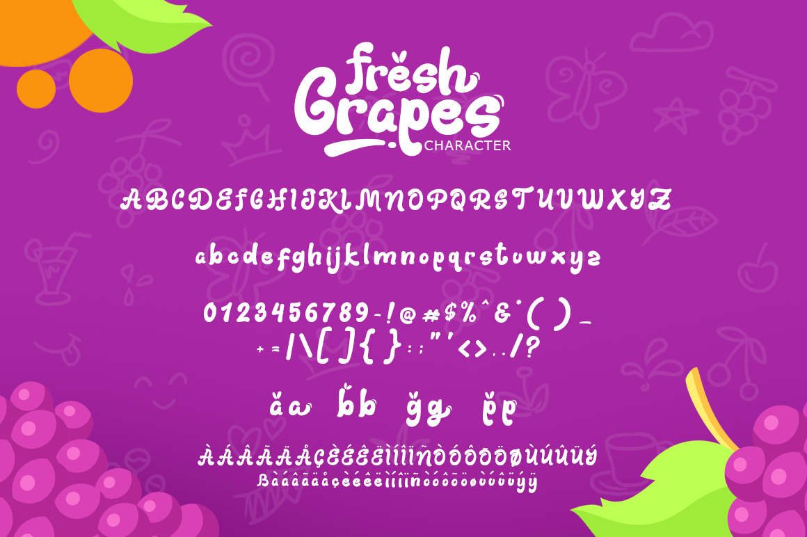Fresh Grapes 4 Font example image 7