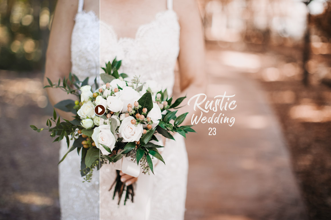 50 Rustic Wedding Presets for Lightroom & ACR example image 2