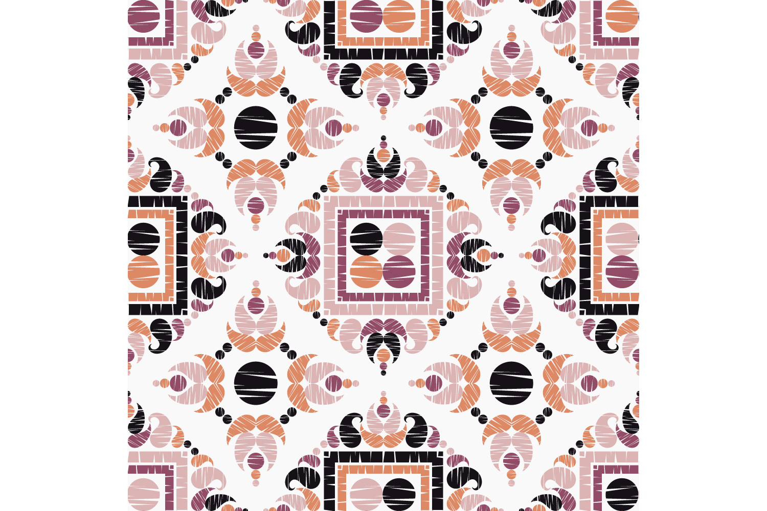 Paisley ornament. Set of 10 seamless patterns. example image 4