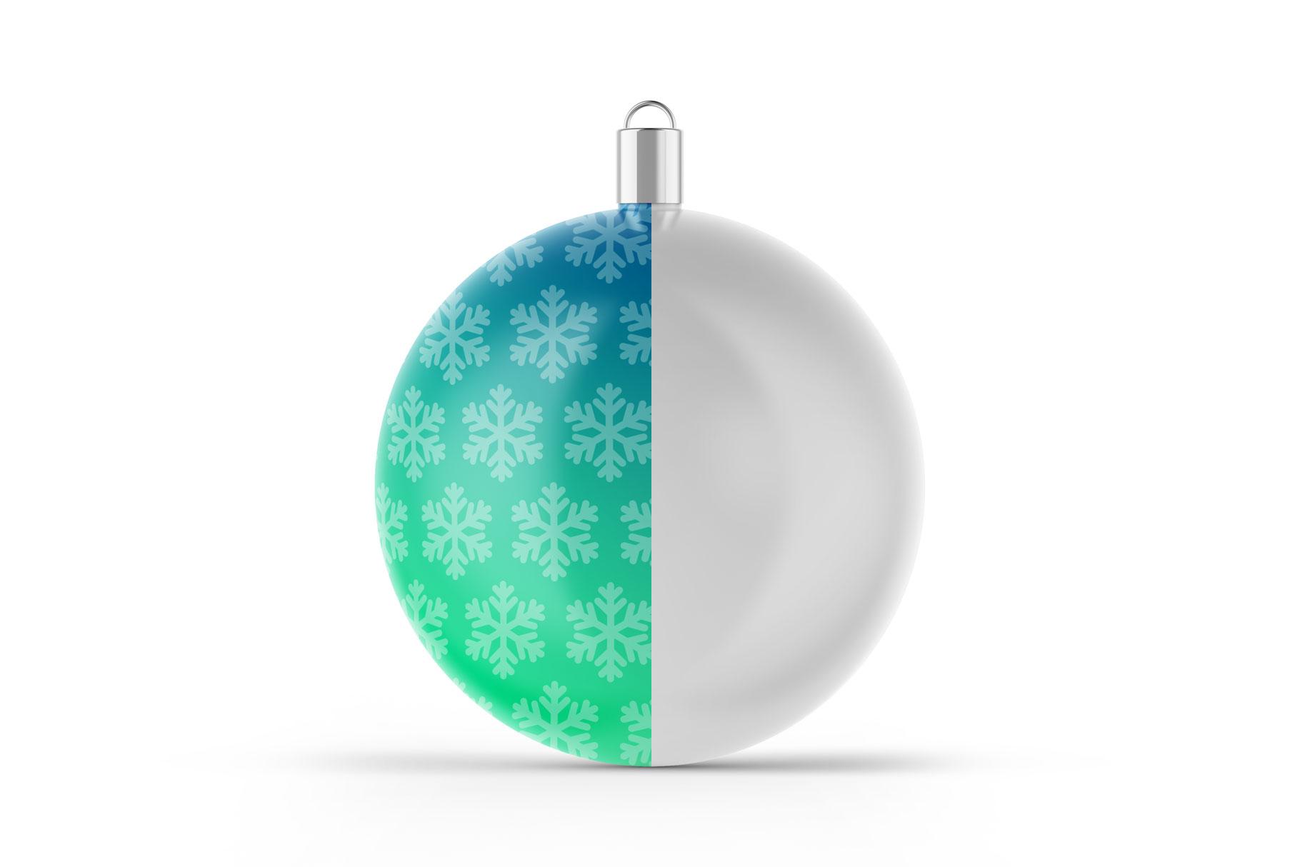 Matte Christmas Ball Mockup example image 4