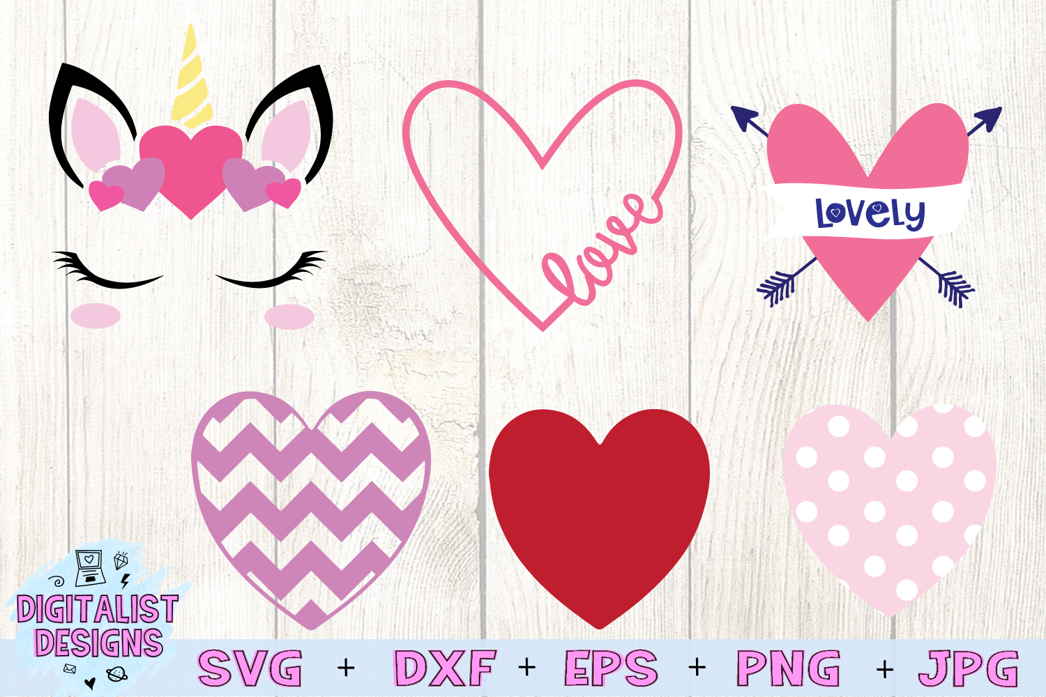 Valentines Bundle | Valentine's Day SVG Bundle | example image 4