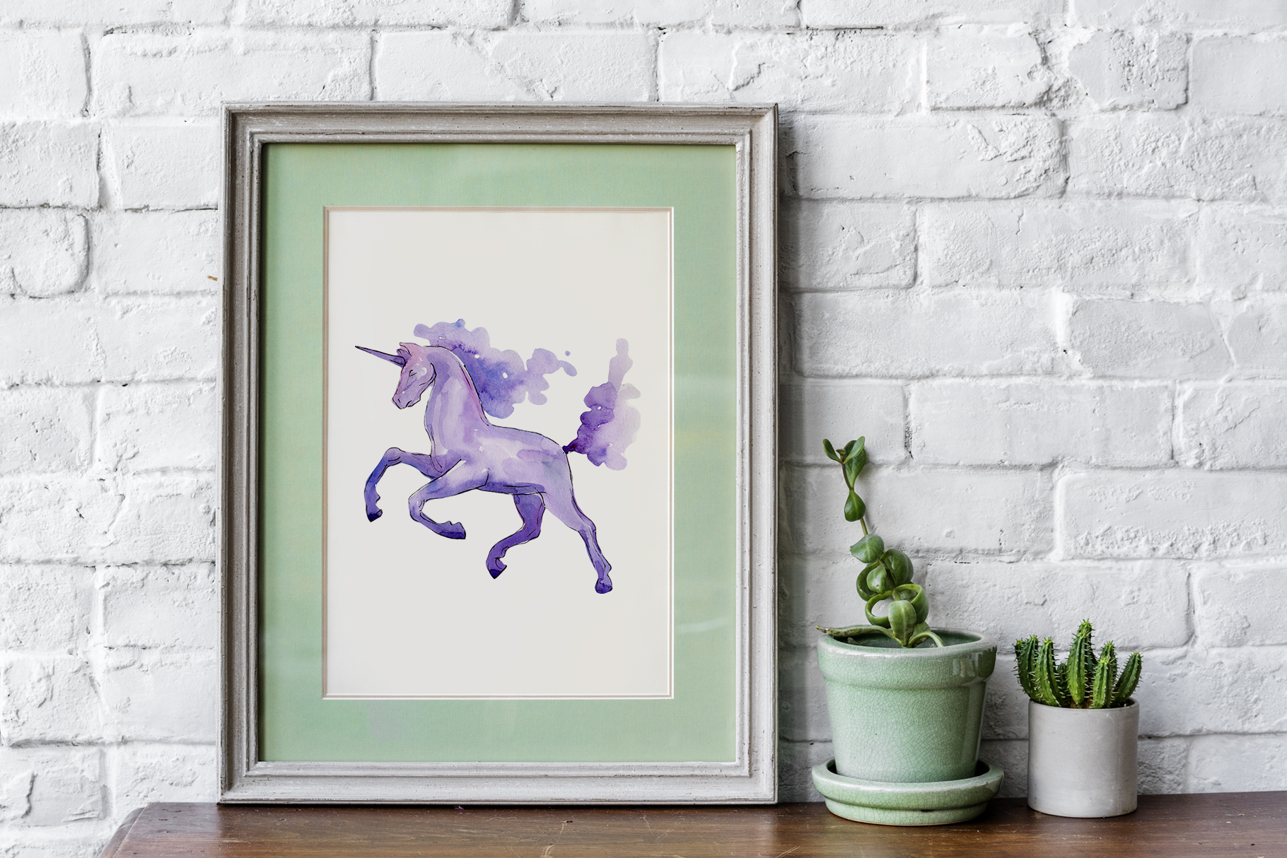 Unicorn Masterpiece Watercolor png example image 7