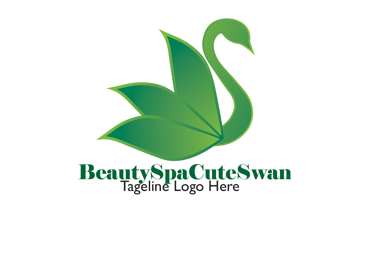 Beauty Spa Cute Swan Logo example image 2