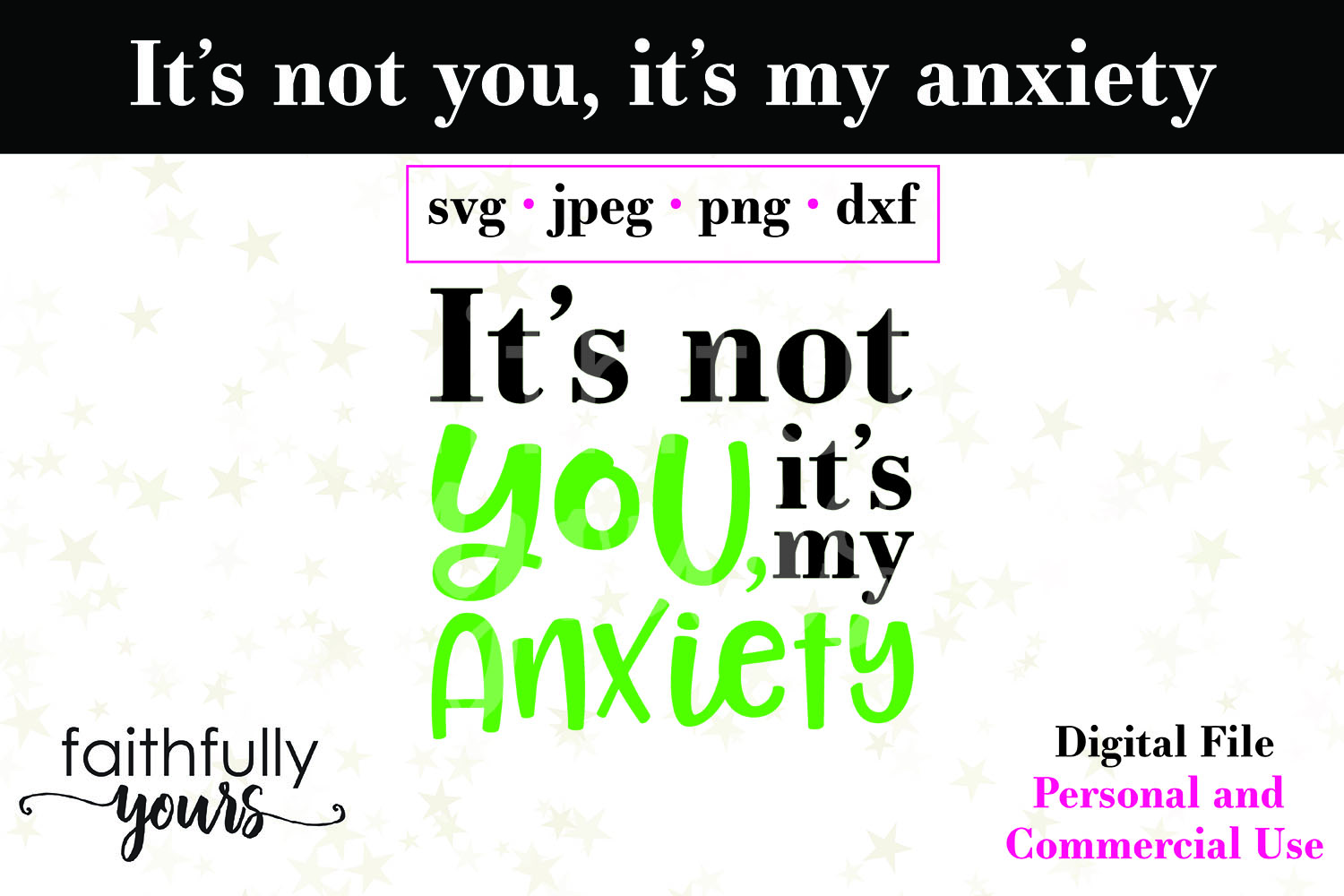 It's not you, it's my anxiety. Sarcastic homebody svg example image 2