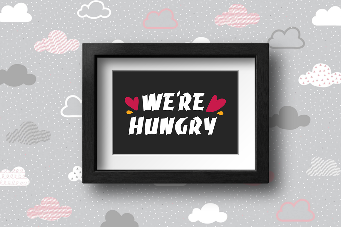 Pregnancy Announcement SVG Cut Files - We're hungry example image 2
