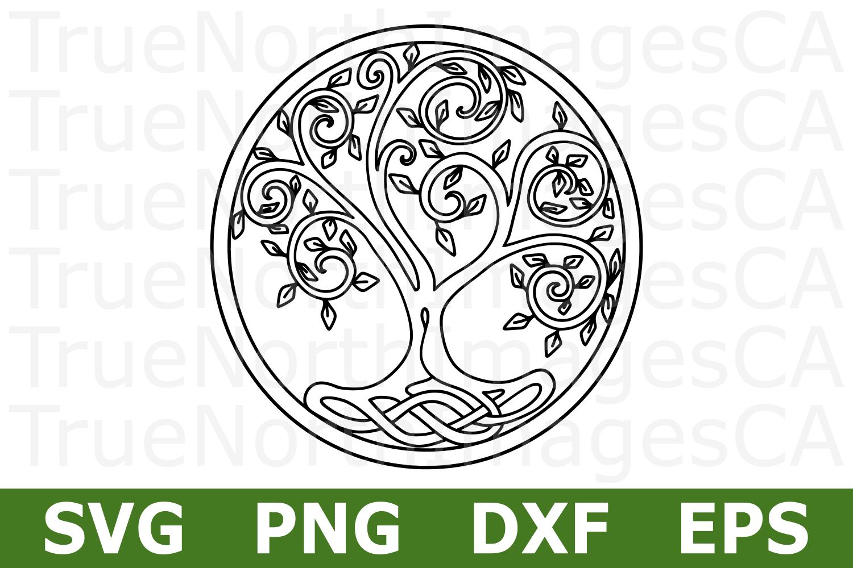 Tribal Circle Tree - A Nature SVG Cut File example image 1
