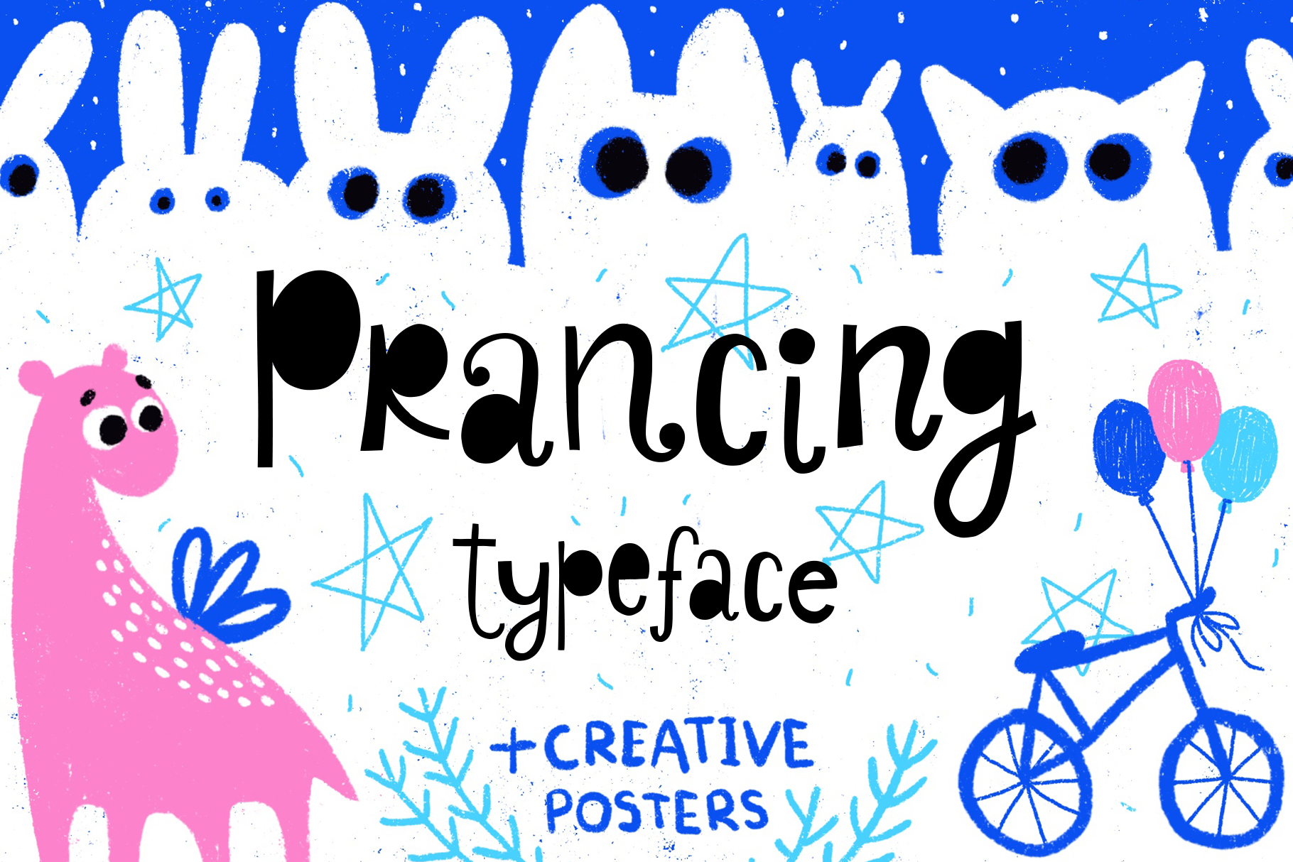 Prancing typeface with posters example image 1