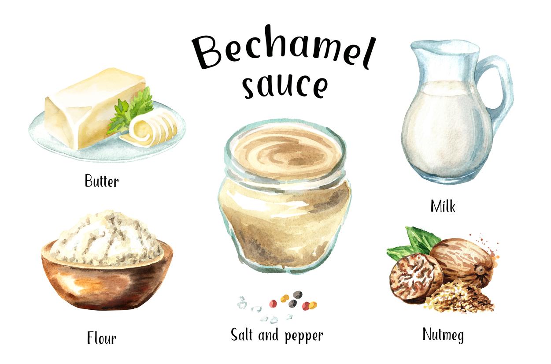 Bechamel sauce Watercolor example image 2