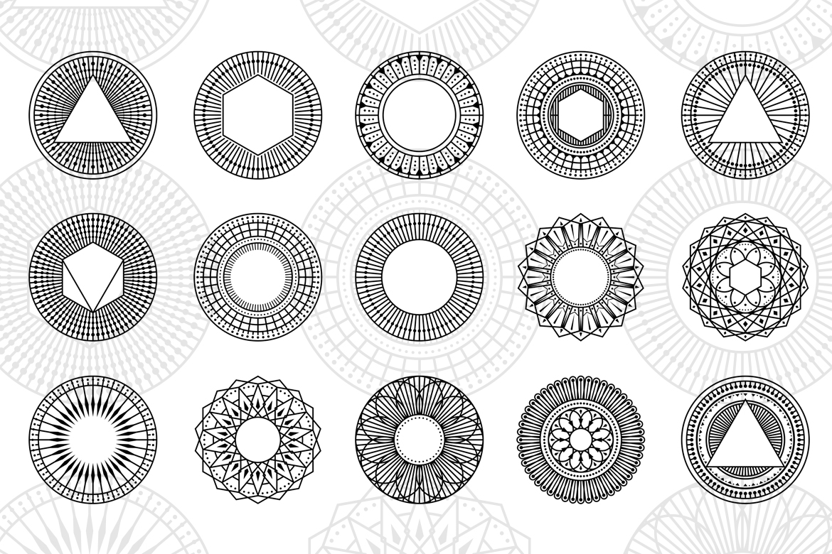 100 Geometric Vector Shapes CSH example image 5