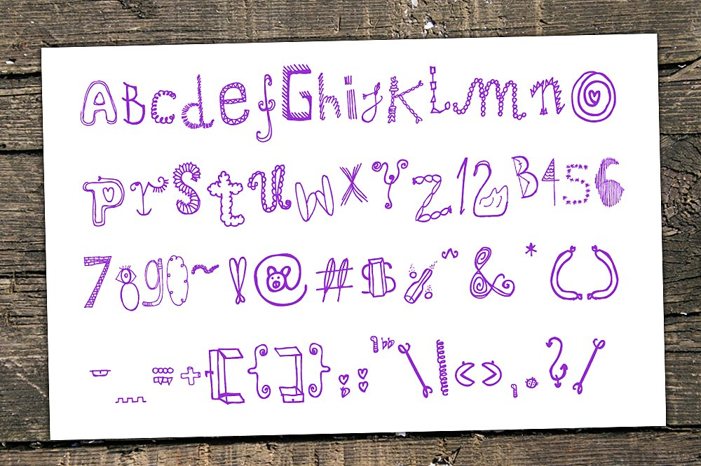 Mrs Doodle Fonts example image 2