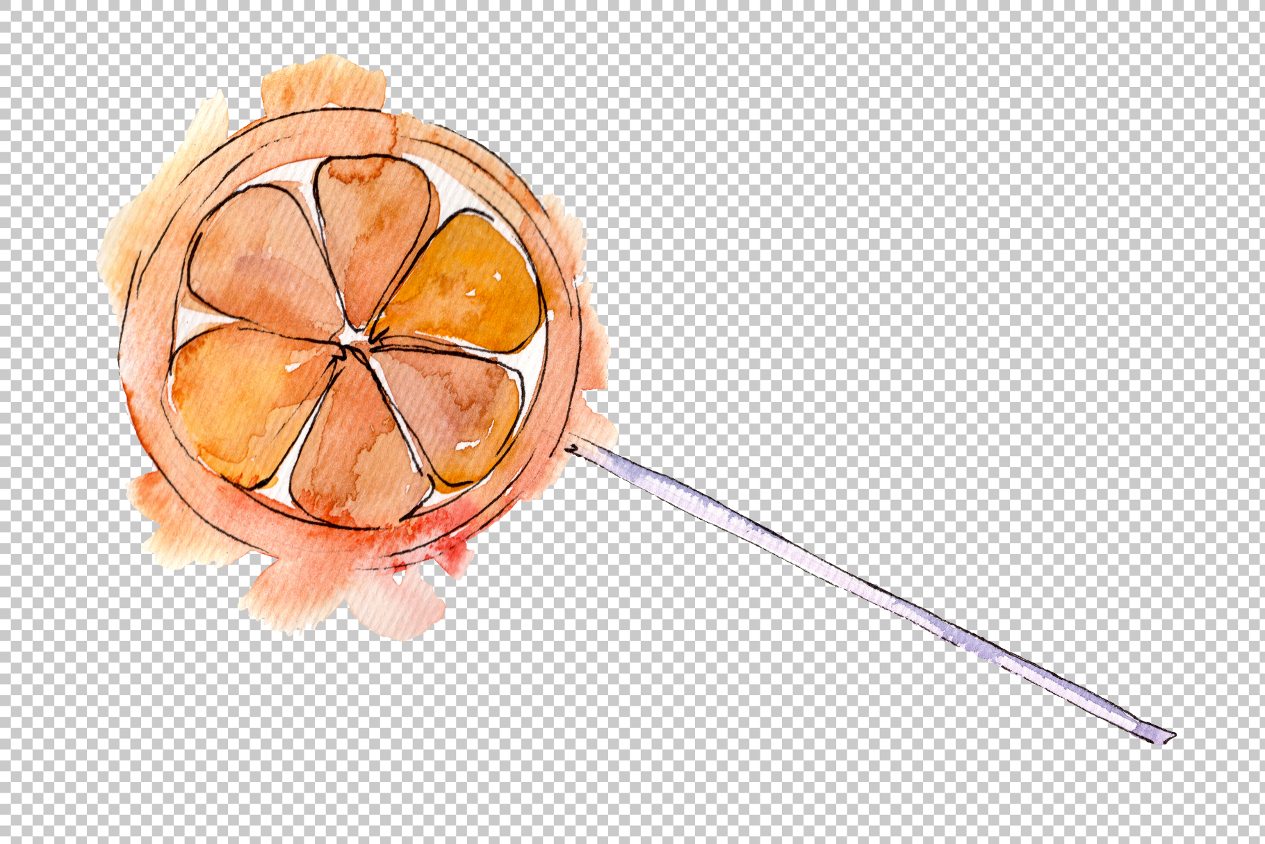 Dessert sweets Watercolor png example image 2