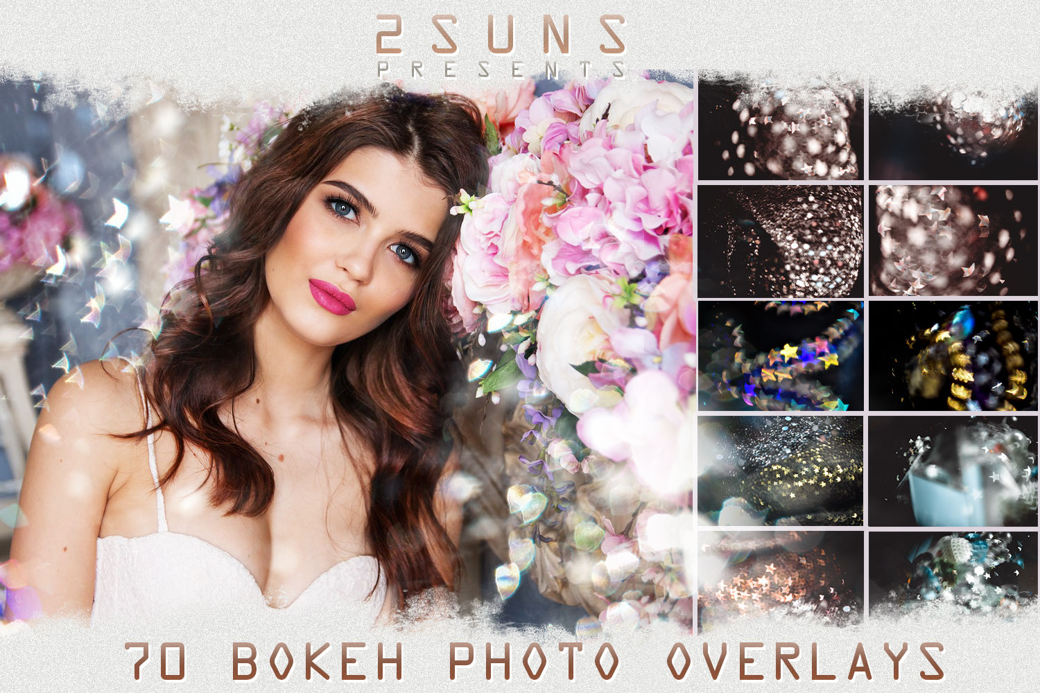 Sunbeams, spring, star, flare, photoshop overlays, natural example image 1