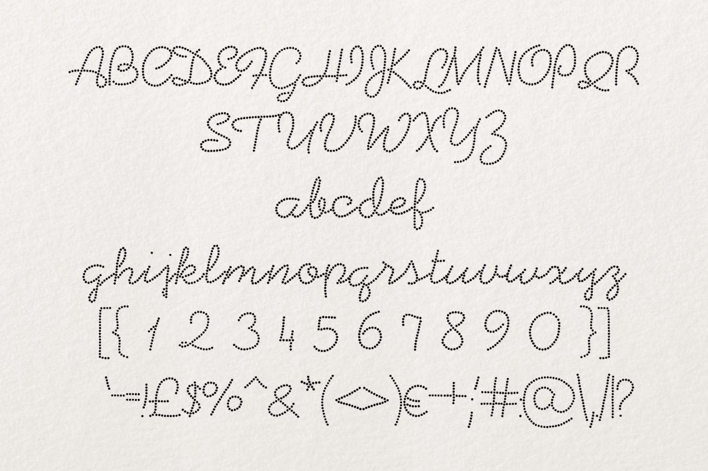 Beadwork font example image 3