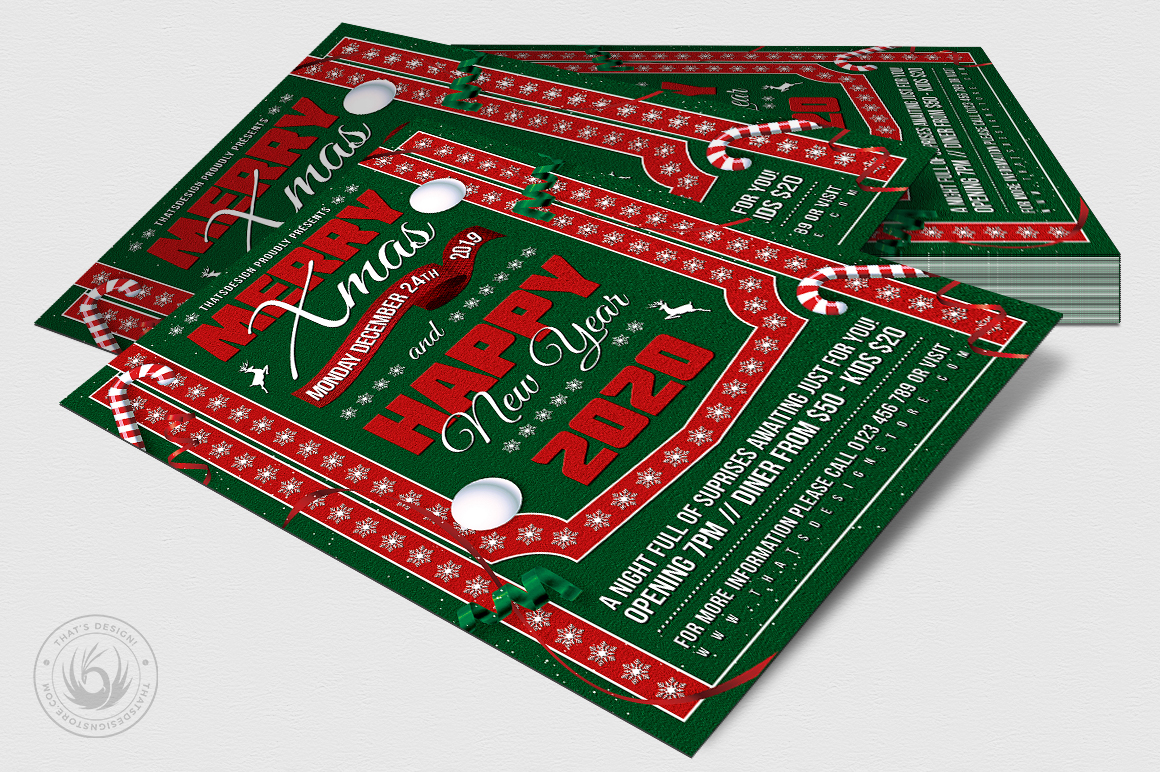 Christmas Eve Flyer Template V10 example image 4