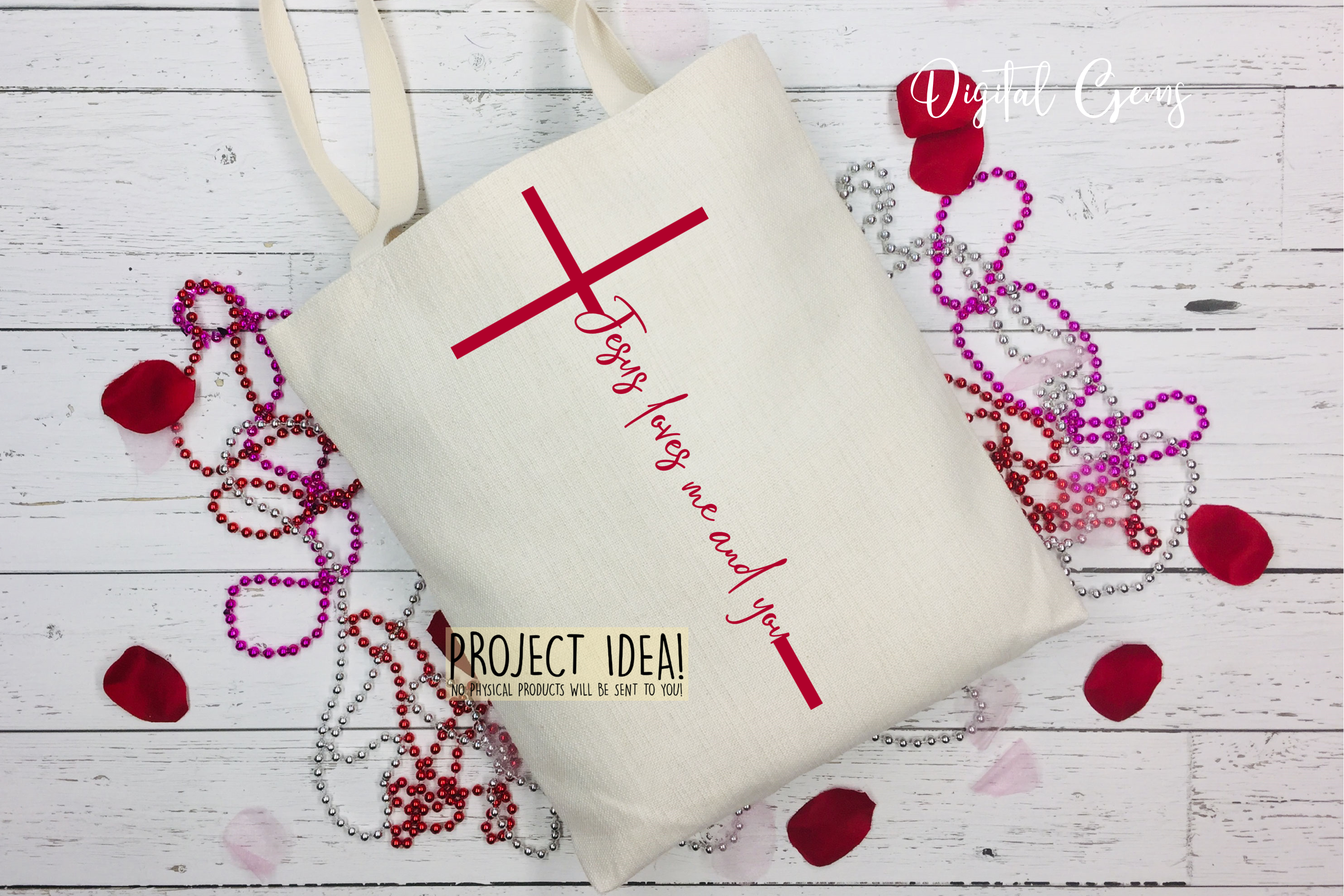Jesus loves me and you SVG / PNG / EPS / DXF files example image 6
