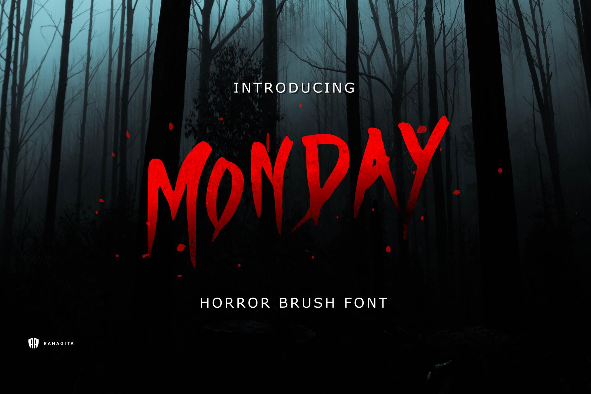 Monday - Horror Brush Font example image 1
