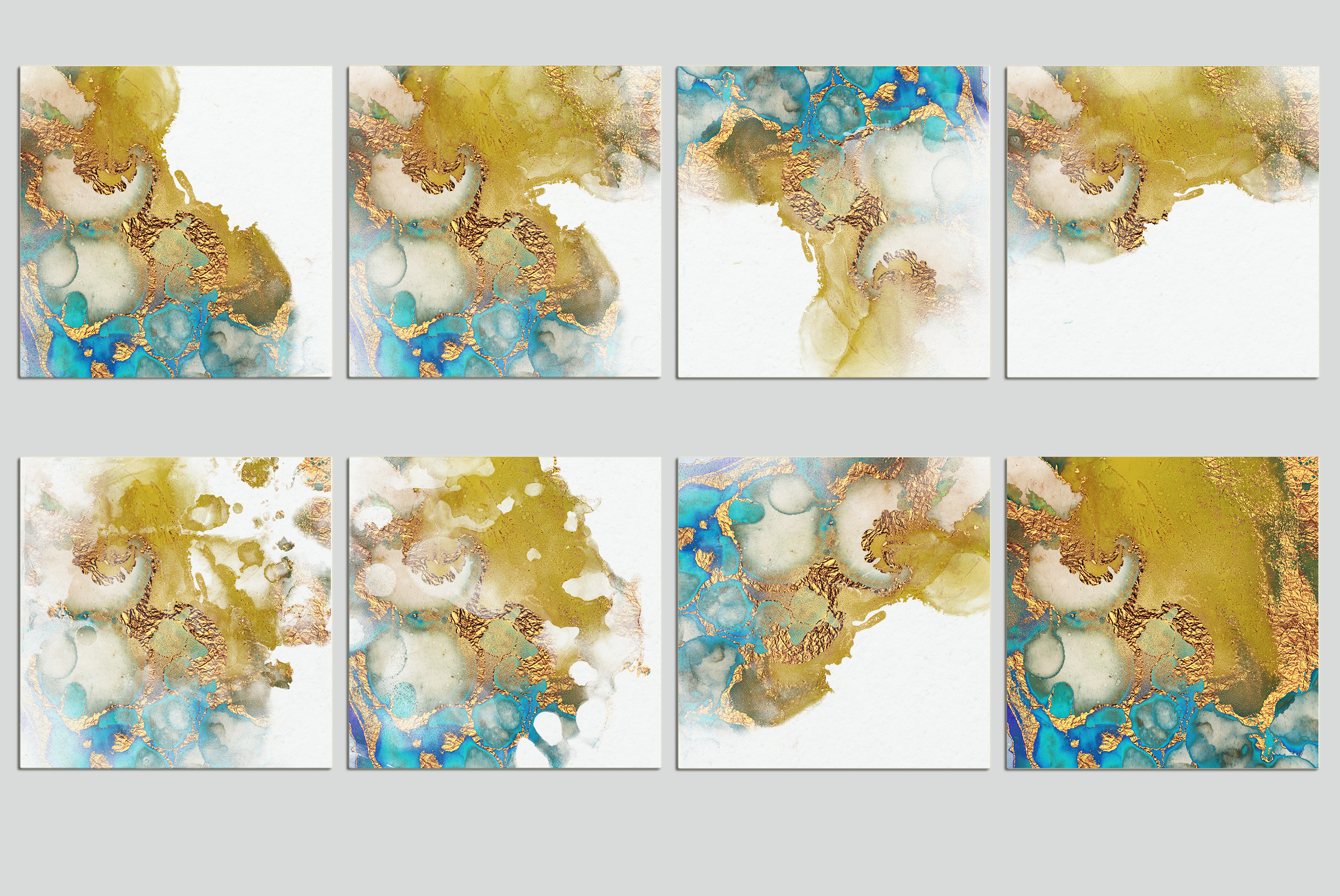 Watercolor PNG Gold Textures example image 4
