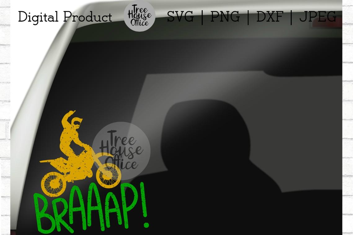 Braaap Funny Dirtbike Motocross Dirt Bike Motorcross SVG PNG example image 3