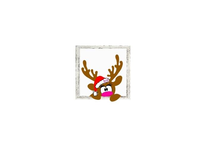 Reindeer Svg, Christmas Reindeer Svg, Doe Svg, Deer Face Svg example image 2