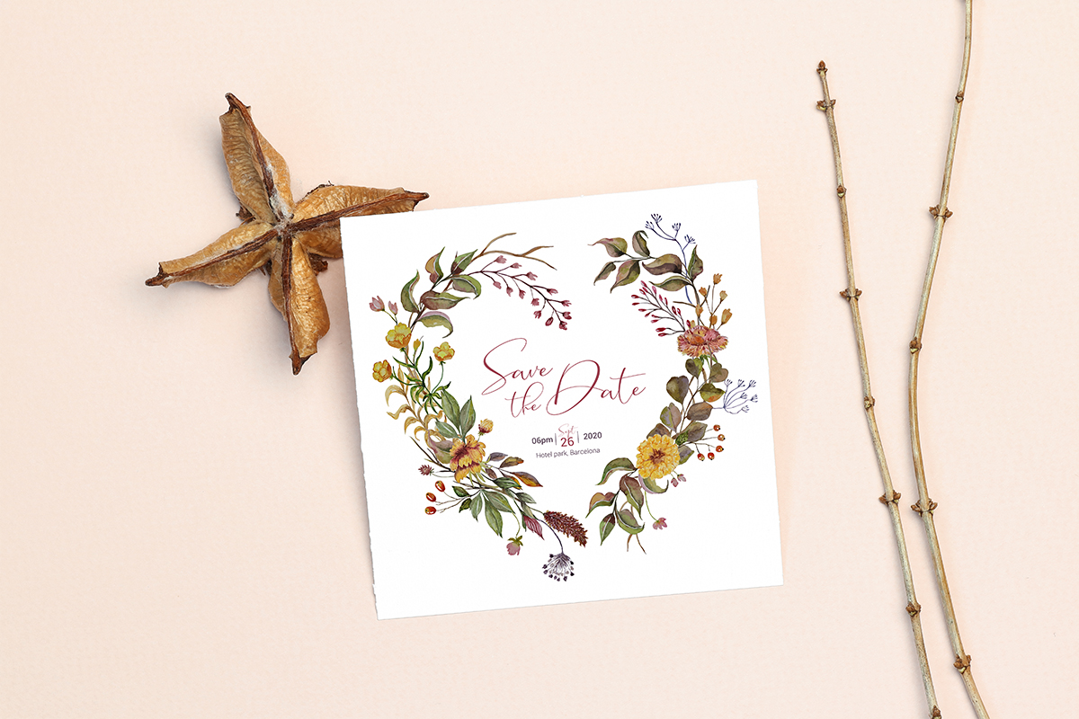 Invitation Card Mockups With Branches example image 9