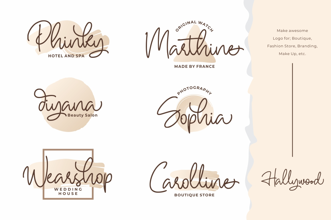 Hallywood - Handwritten Script Font example image 3
