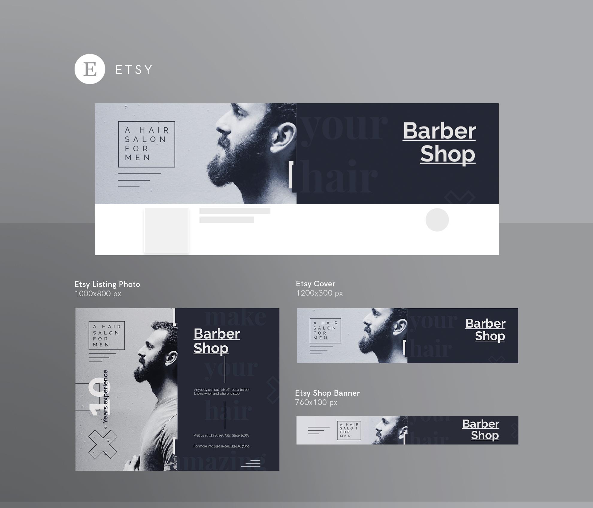 Barber Shop Hair Salon For Men Design Templates Bundle 115219 Branding Design Bundles