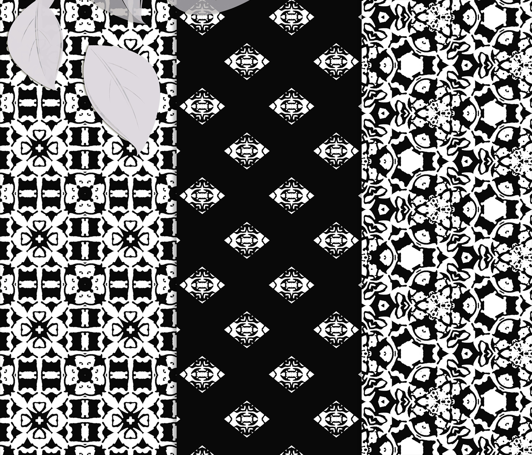 Black and white Digital Scrapbook Paper example image 5