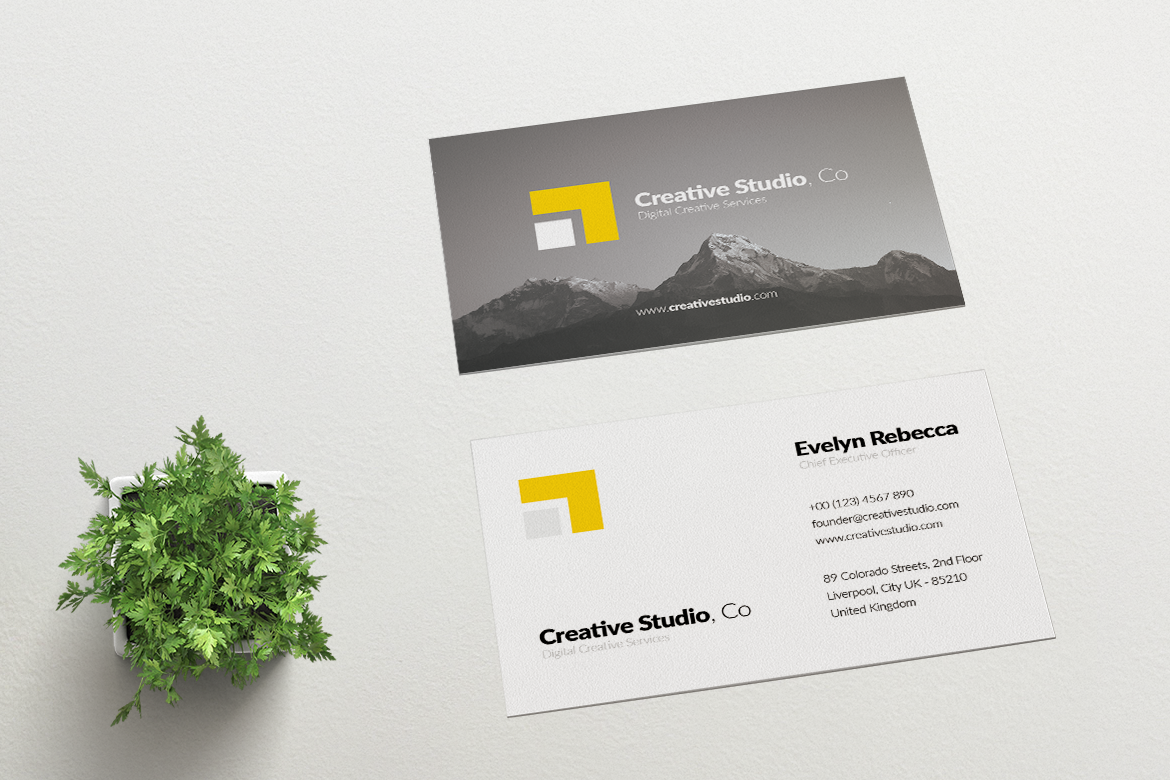 Minimalist Business Card Vol. 01 example image 3